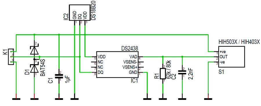 tm3d.de - 1-Wire Feuchtesensor - Neue Version